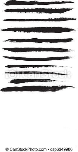 Vector Brush Strokes - csp6349986
