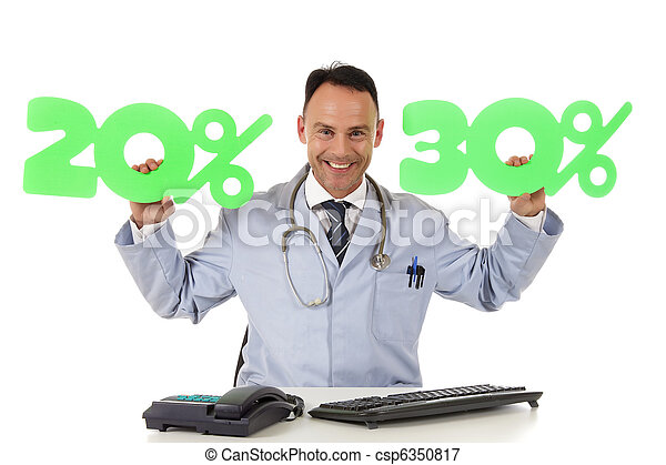 Health care on sale, 20 % and 30 % - csp6350817