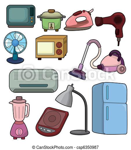 cartoon home appliance icon - csp6350987