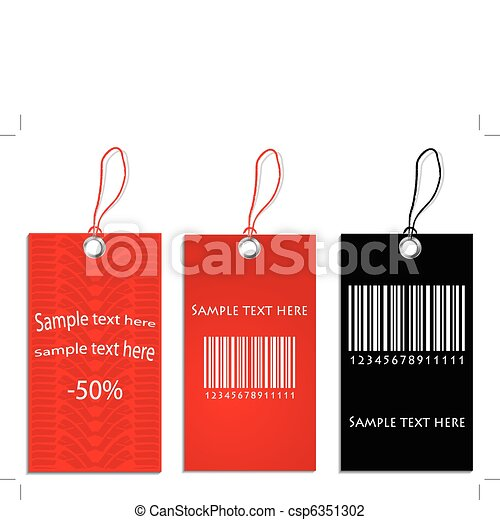 set of special price tags - csp6351302