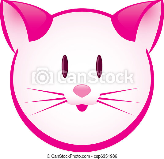 Cartoon gay pink kitty - csp6351986