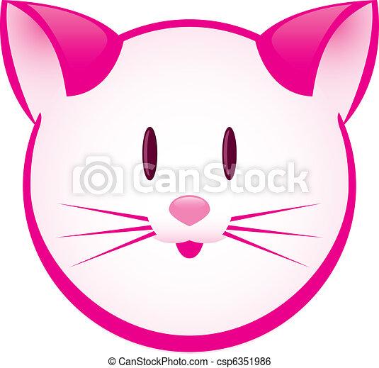 Cartoon gay pink kitty - csp6351986