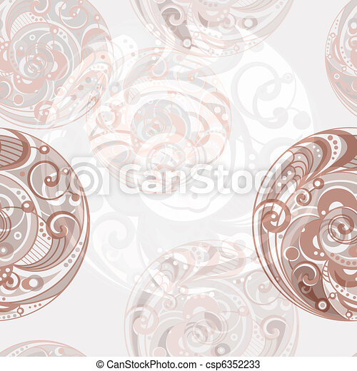 vector seamless abstract bright background with spirals - csp6352233