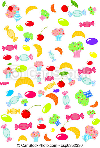 Sweets and candies - csp6352330