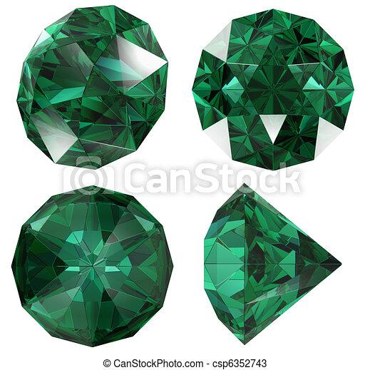 zeichnungen von farbe juwel freigestellt edelstein smaragd emerald csp6352743 suchen. Black Bedroom Furniture Sets. Home Design Ideas