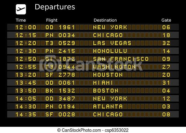 Departure board - csp6353022