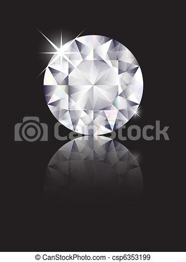 Diamond reflected - csp6353199