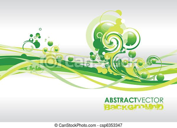green spiral lines - csp6353347