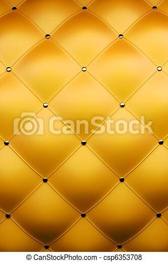 luxury golden leather - csp6353708