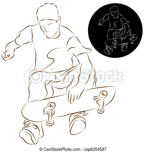 Skateboard Stunt Rider - csp6354597