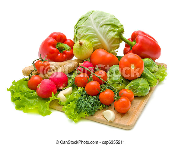 Vegetables. Fresh and ripe vegetables close-up. - csp6355211