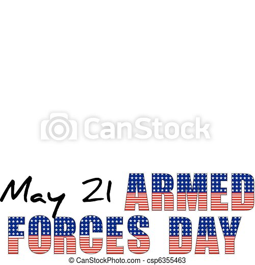 USA - may 21 - armed forces day - csp6355463