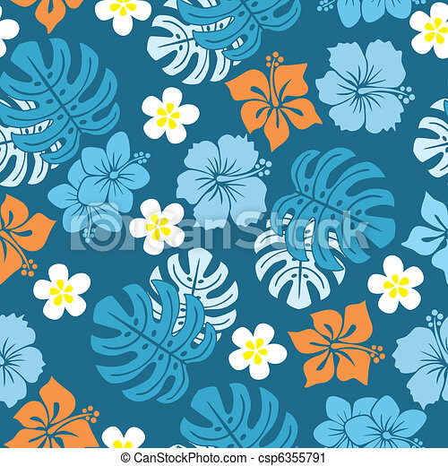 Seamless tropical pattern - csp6355791