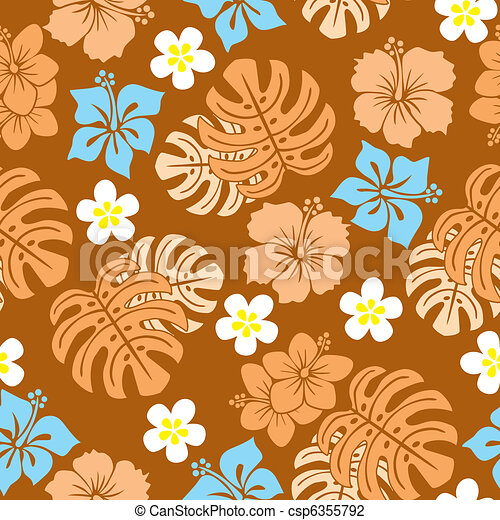 Seamless tropical pattern - csp6355792