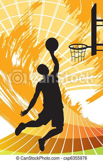 Basketball player - csp6355976