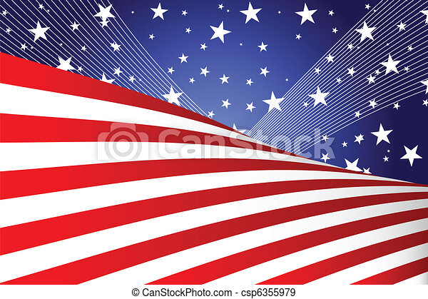 Fourth of July banner - csp6355979