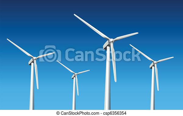 wind turbines  - csp6356354