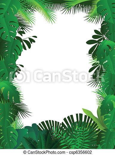 Forest frame background - csp6356602