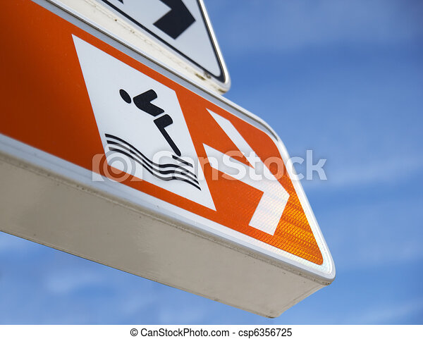 a swimming pool sign - csp6356725