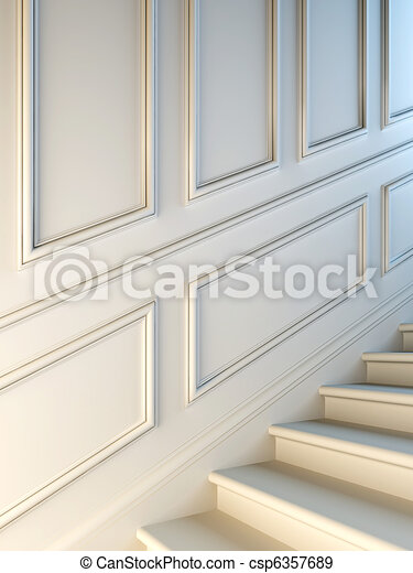 Classical staircase. - csp6357689