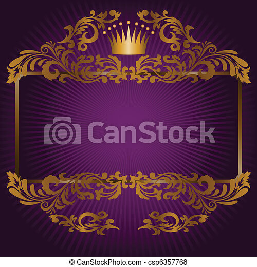 royal symbols on a purple background - csp6357768