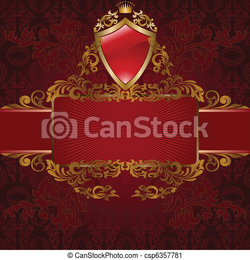 Royal symbols on red - csp6357781