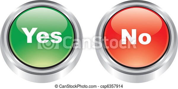 Nice pair of icons like buttons - csp6357914