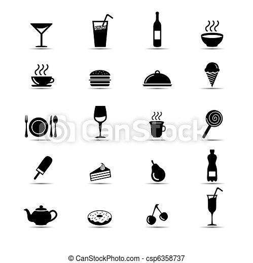Food icons - csp6358737