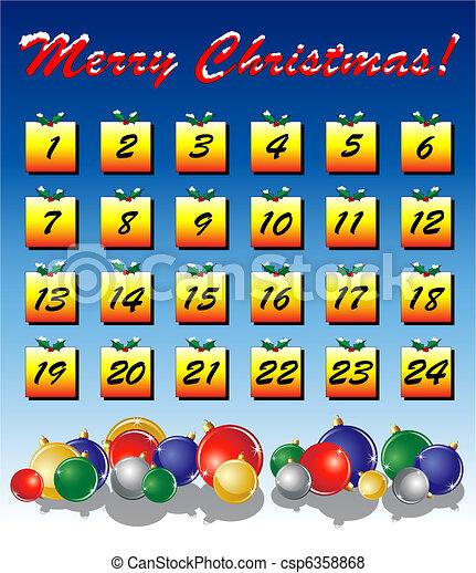 Advent calendar - csp6358868