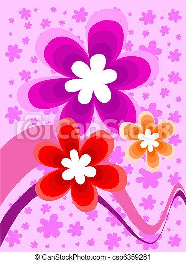 Flower decorative project  - csp6359281