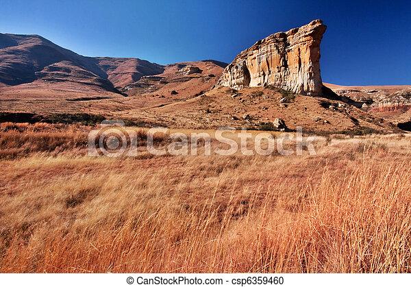 sandstone cliff - csp6359460