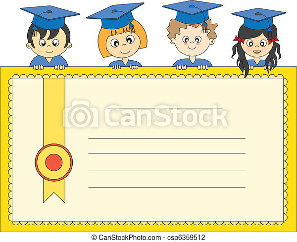 Illustration of Graduates - csp6359512
