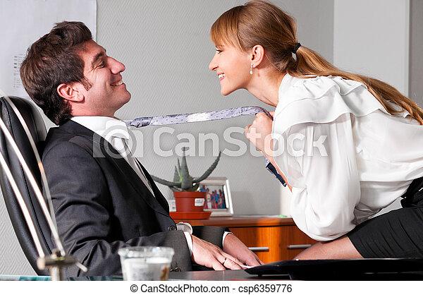 flirting at office - csp6359776