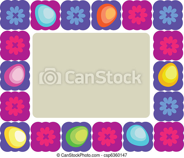 easter frame of Easter objects - csp6360147