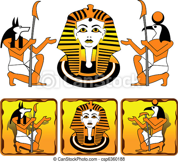 Tiles Egyptian gods - csp6360188