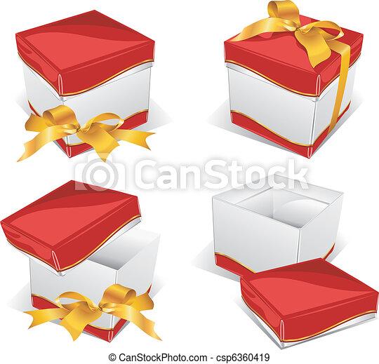 Instruction on box opening - csp6360419
