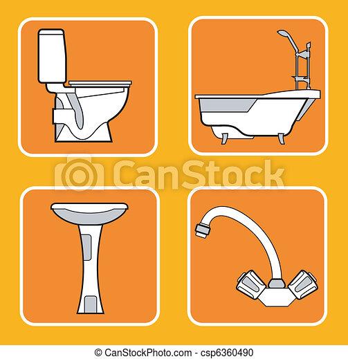 Bathroom patterns - csp6360490
