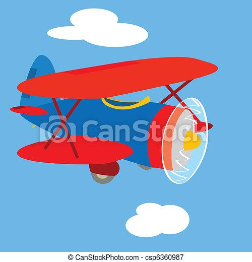 Vintage airplane - csp6360987