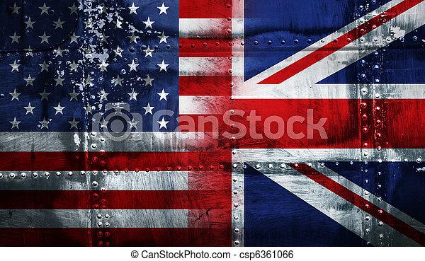 Reino Unido, EUA, bandeira - csp6361066