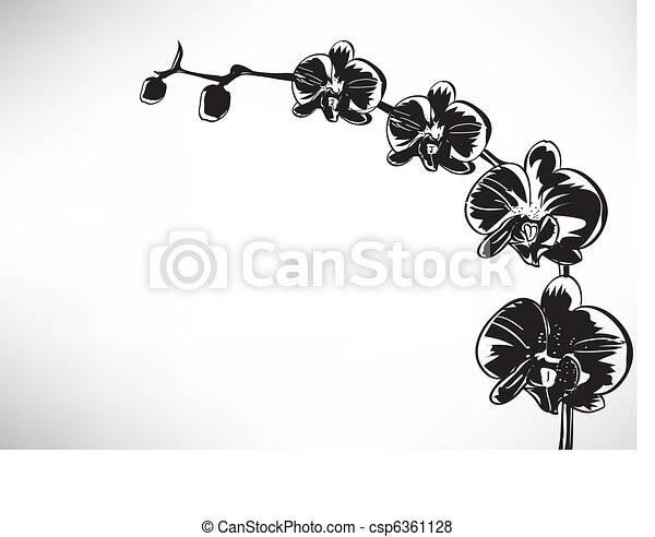 Stylized orchid - csp6361128