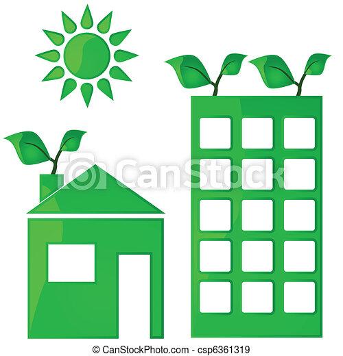 Green housing - csp6361319