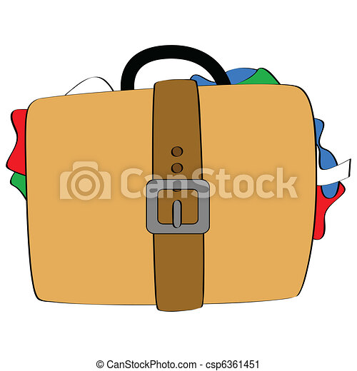 Bulging luggage - csp6361451