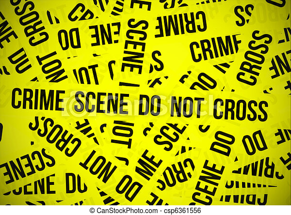 Crime scene do not cross - csp6361556