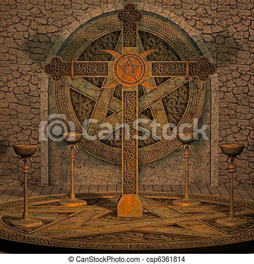 spooky altar - csp6361814