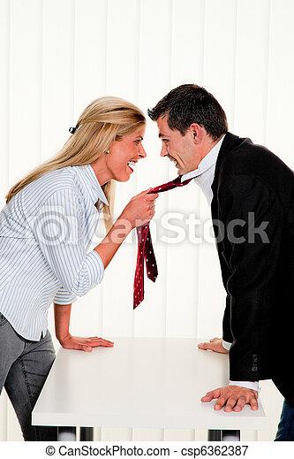 Dispute among employees - csp6362387