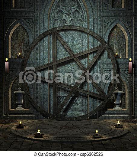 spooky altar - csp6362526