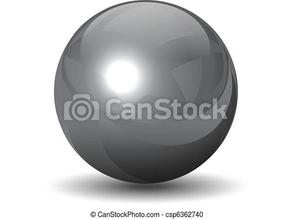 Vector metallic chrome sphere - csp6362740
