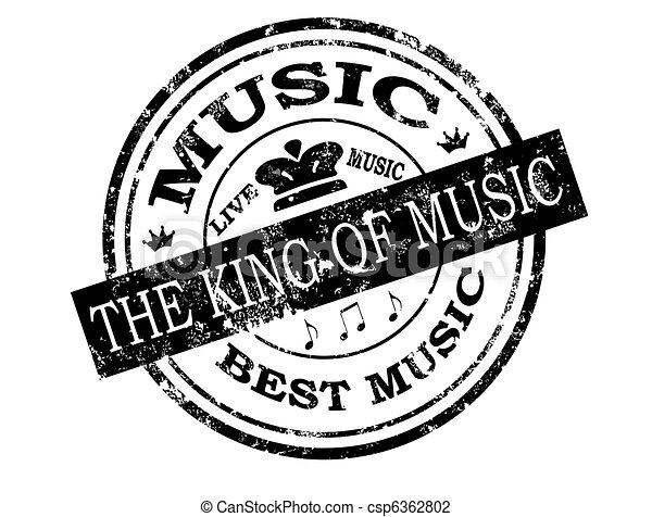 Best  music stamp - csp6362802