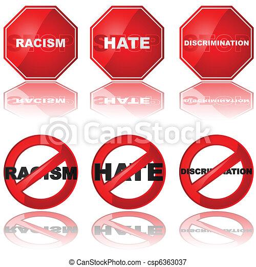 Stop discrimination - csp6363037