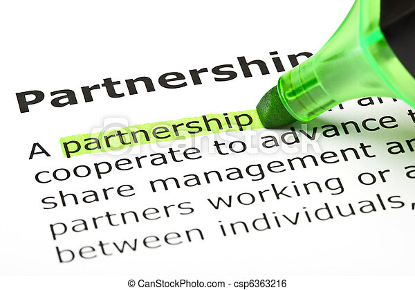 'Partnership' highlighted in green - csp6363216